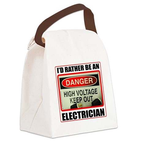 IdRatherBeAnElectrician1 Canvas Lunch Bag