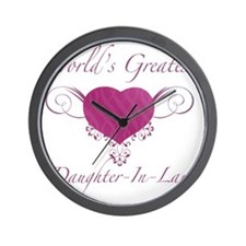 Heart_Daughter-In-Law Wall Clock