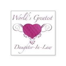 "Heart_Daughter-In-Law Square Sticker 3"" x 3"""