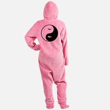 U.P._Ying_Yang.gif Footed Pajamas