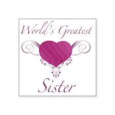 """Heart_Sister Square Sticker 3"""" x 3"""""""