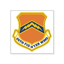 "56th Fighter Wing Square Sticker 3"" x 3"""