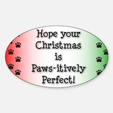 pawsitivelyChristmasCard-01 Decal