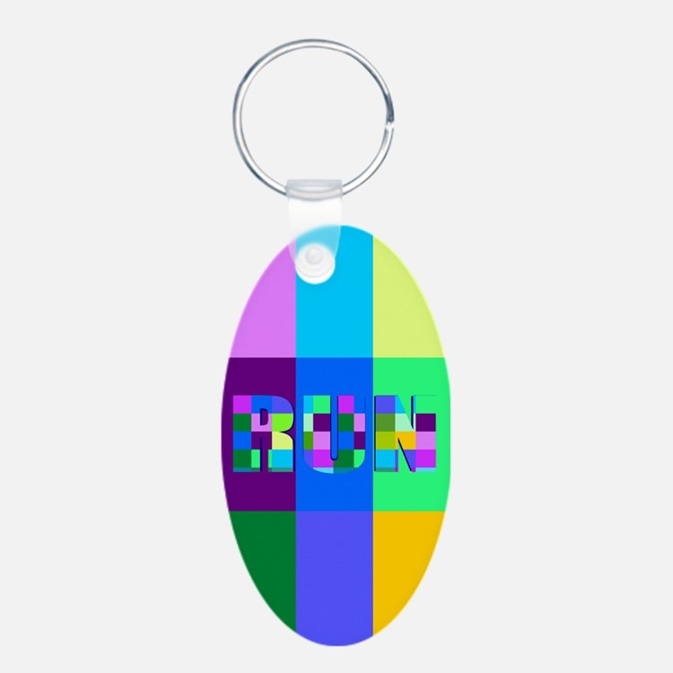 Run Squares Keychains