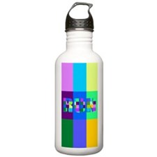 Run Squares Water Bottle