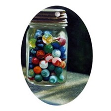 Marbles Oval Ornament