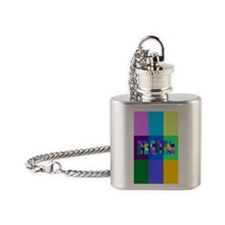 Run Squares Flask Necklace