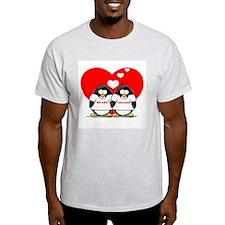 We Are Engaged Penguins Ash Grey T-Shirt