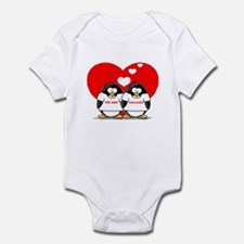 We Are Engaged Penguins Infant Bodysuit