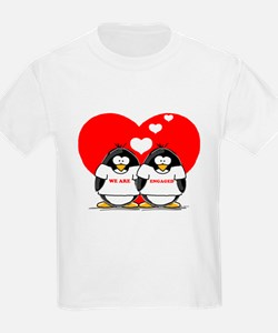 We Are Engaged Penguins Kids T-Shirt