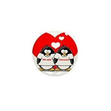 We Are Engaged Penguins Mini Button (10 pack)