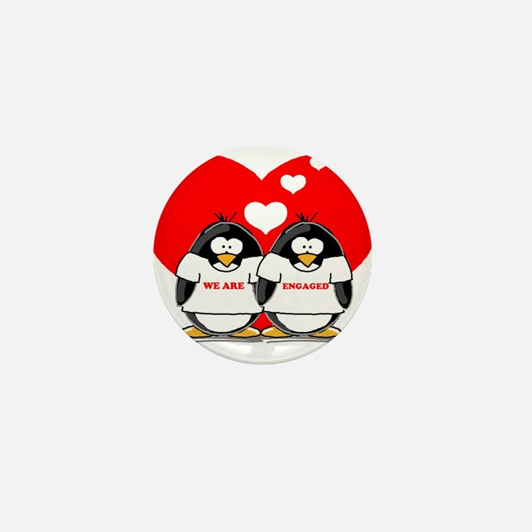 We Are Engaged Penguins Mini Button
