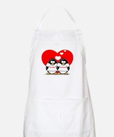 We Are Engaged Penguins BBQ Apron