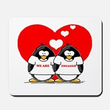 We Are Engaged Penguins Mousepad