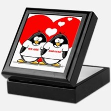 We Are Engaged Penguins Keepsake Box