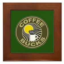 Coffee Bucks Framed Tile