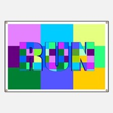 Run Squares Banner