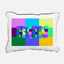 Run Squares Rectangular Canvas Pillow
