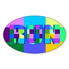 Run Squares Decal
