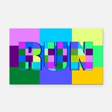 Run Squares Rectangle Car Magnet