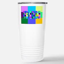 Run Squares Travel Mug