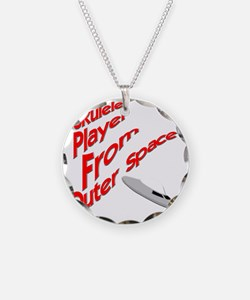 Ukulele Player From Outer Sp Necklace