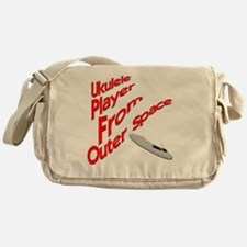 Ukulele Player From Outer Space Messenger Bag