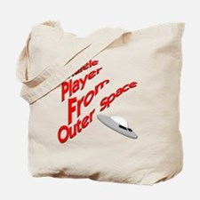 Ukulele Player From Outer Space Tote Bag