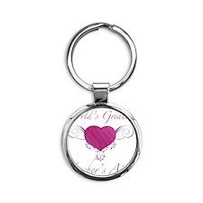 Heart_TeachersAid Round Keychain