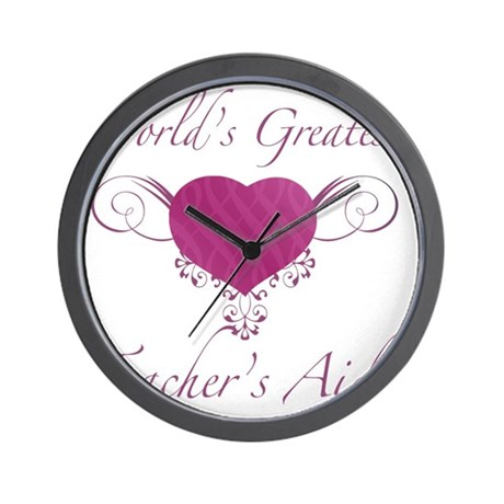 Heart_TeachersAid Wall Clock