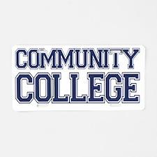 COMMUNITY college Aluminum License Plate