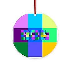 Run Squares Ornament (Round)