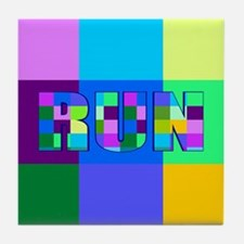 Run Squares Tile Coaster