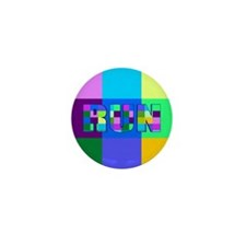Run Squares Mini Button (100 pack)