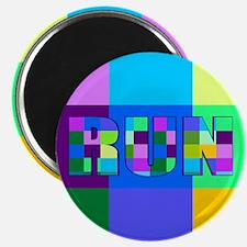 "Run Squares 2.25"" Magnet (10 pack)"