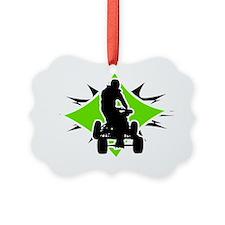Quad_BlackGreen Ornament
