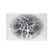 ghost tree dark Rectangle Magnet