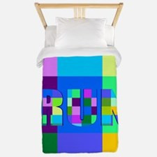 Run Squares Twin Duvet