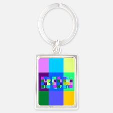 Run Squares Portrait Keychain