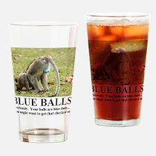 BLUE BALLS2 Drinking Glass