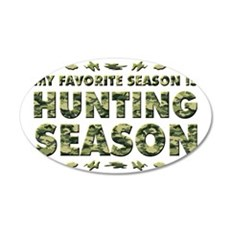 HUNTING 35x21 Oval Wall Decal