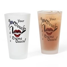 Bridle Your Mouth DQ Drinking Glass