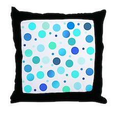 Polka dots - cool shades Throw Pillow