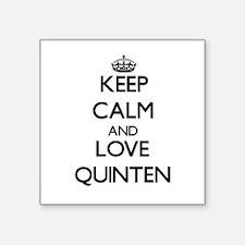 Keep Calm and Love Quinten Sticker