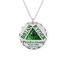 10x10_green4White2_2010 Necklace