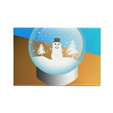 snowglobe Rectangle Magnet