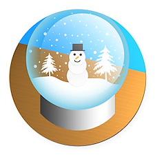 snowglobe Round Car Magnet