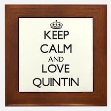 Keep Calm and Love Quintin Framed Tile
