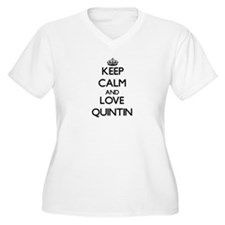 Keep Calm and Love Quintin Plus Size T-Shirt