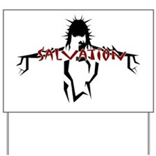 salvation red Yard Sign